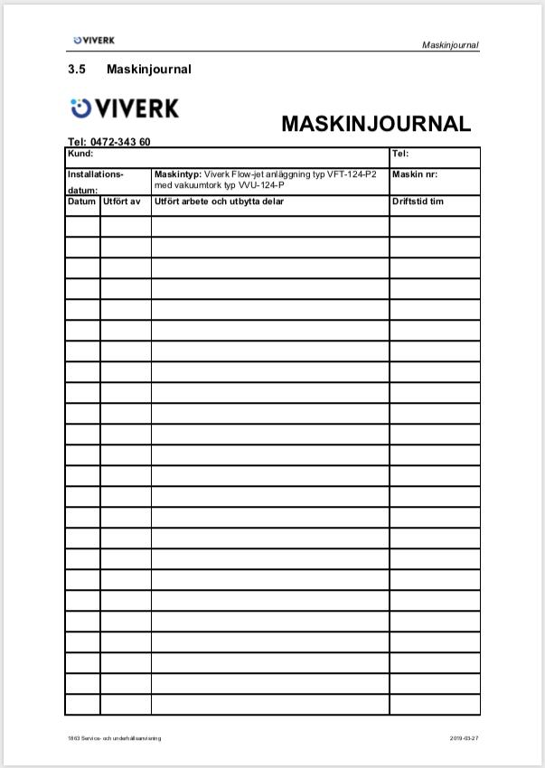Maskinjournal