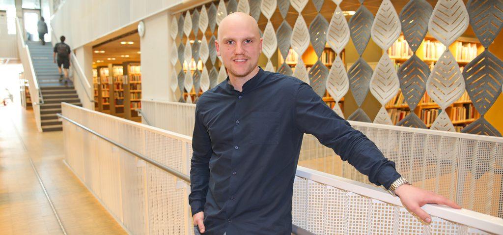 Nils Elf, student vid Linnéuniversitetet.