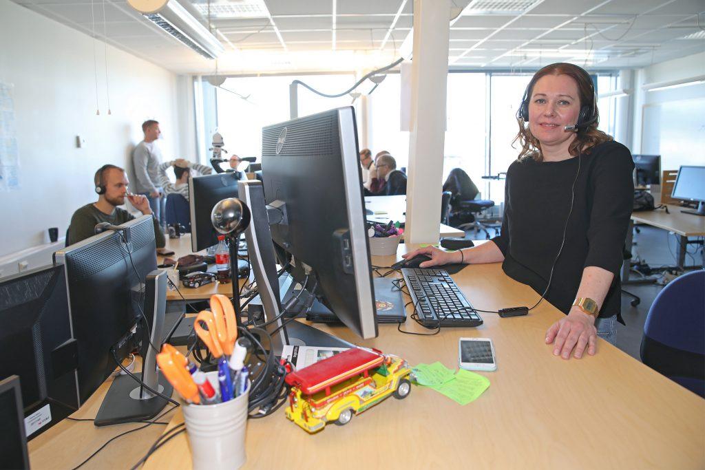 Sanna Lindqvist, teamleader på Visma Spcs i Växjö.