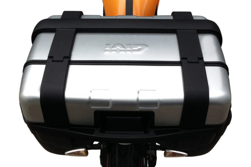 Zero pakethållarkit med toppbox i aluminium