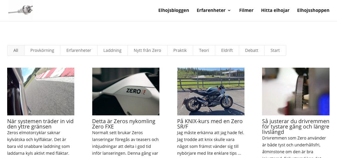 På elhojsbloggen samlas våra och våra kunders erfarenheter av att äga och köra elmotorcyklar av märket Zero Motorcycles.